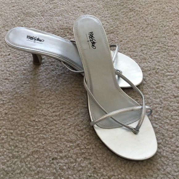 Mossimo Supply Co. Shoes - Mossimo silver kitten heeled slip ons